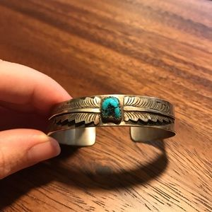 Jewelry - Turquoise and sterling Native American bracelet